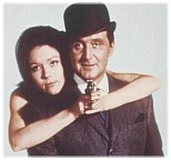 Steed and Peel with a Gun