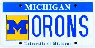 University of Michigan plate - Morons